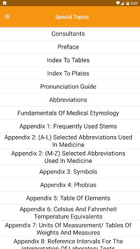 Dorland's Illustrated Medical Dictionary screenshot
