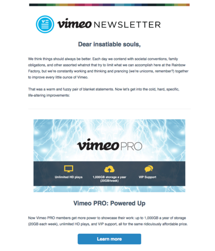 Vimeo Mailchimp