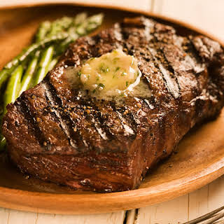 Fire-Grilled Steak with Steakhouse Butter.