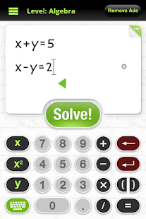 y Homework - Math Solver Screenshot