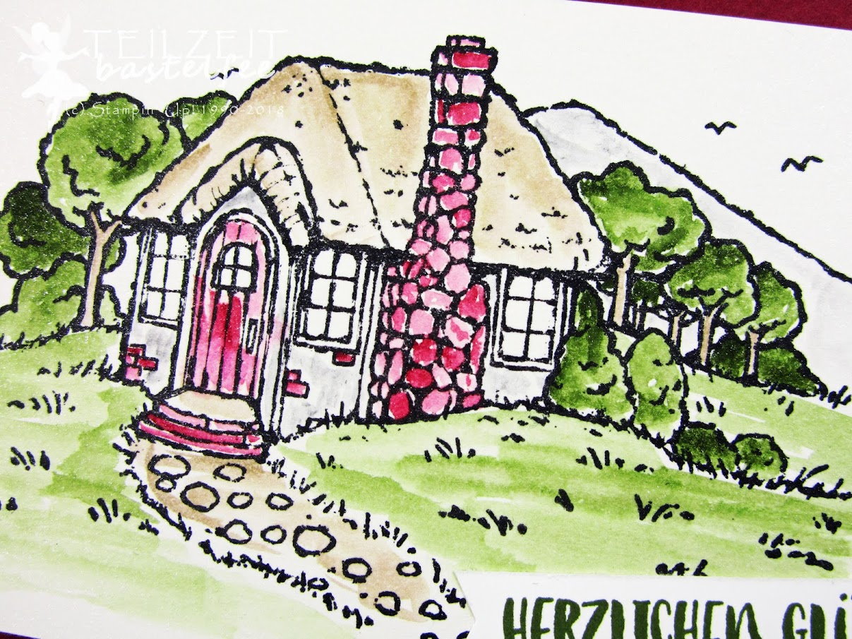 Stampin' Up! - Inkspire_me, Color Challenge, Cozy Cottage, Landhaus-Idylle, Fabulous Flamingo