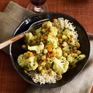 Indian Cauliflower Curry Stew.