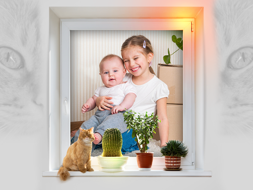 National Cat Day Photo Frames