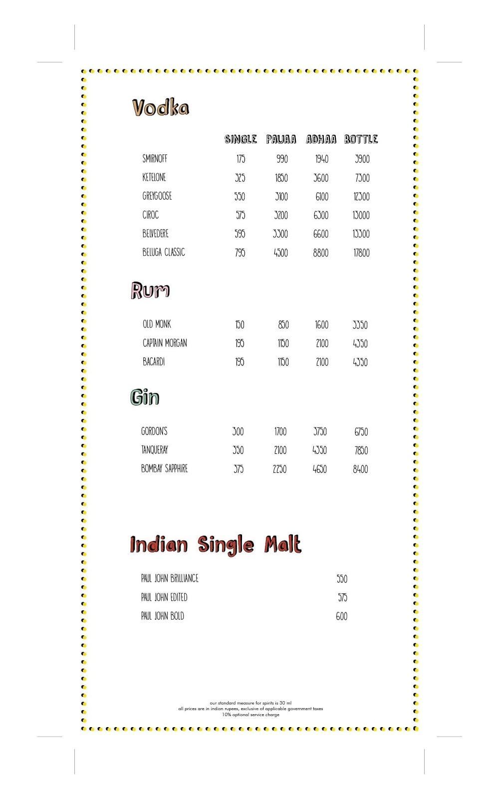 Farzi Cafe menu 4