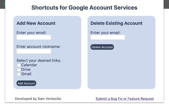Google Services Shortcuts