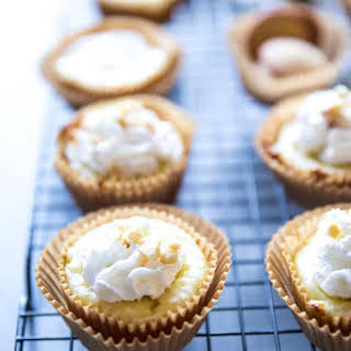 Mini Banana Cheesecakes.