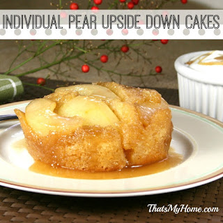 Individual Pear Upside Down Cakes