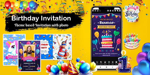 Invitation maker 2020 Birthday & Wedding card Free screenshot 2