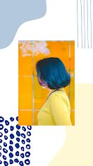 Indigo Hair - Facebook Story item