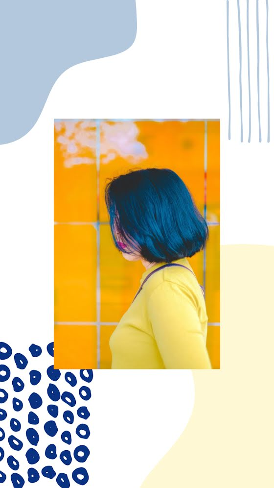 Indigo Hair - Facebook Story Template