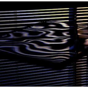 Dali's Window by Isaac De Jesus - Novices Only Abstract ( abstract, patterns, reflections, windows, lines )