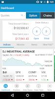 Screenshot of optionsXpress