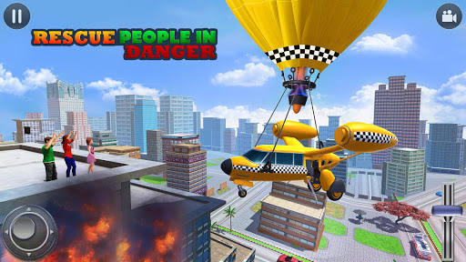 Flying Taxi Simulator: Air Balloon Taxi Driving 3D 1.0.3 screenshots 3