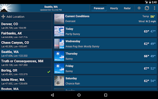 Screenshot of NOAA Weather Unofficial