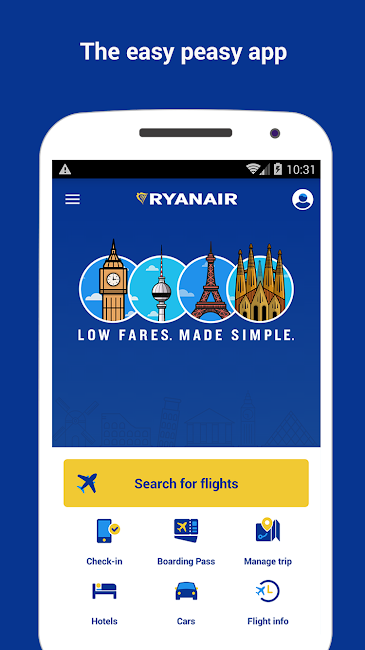 #1. Ryanair - Cheapest Fares (Android)