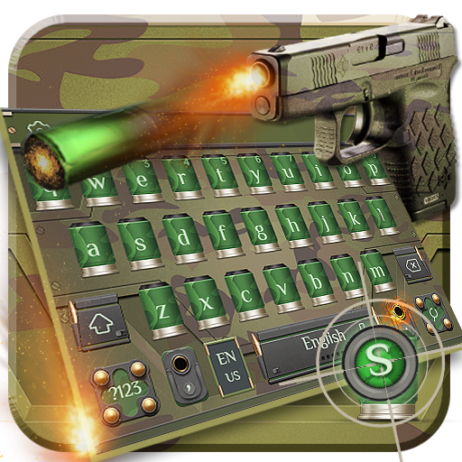 Army Gun Bullet Keyboard