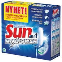 Maskinoppvask Sun Alt i 1 tabletter (50) Max Power (Org.nr.1200838)