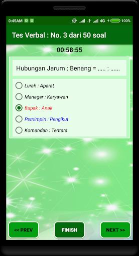 Latihan Tes Potensi Akademik 2018 1.2.0 screenshots 4