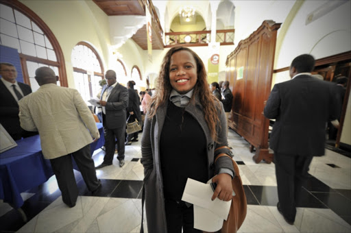 DA National spokesperson, Phumzile Van Damme during the orientation programme for new MPs in the Old Assembly in Parliament on June 3, 2014 in Cape Town, South Africa.