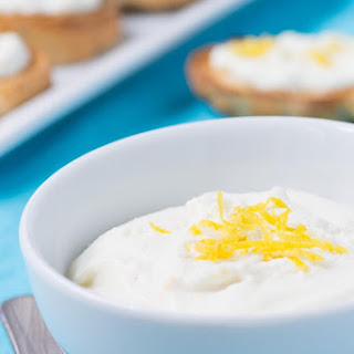 Honey Lemon Whipped Ricotta.