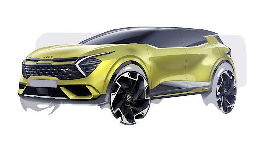 Kia Automóviles Robe muestra los primeros bocetos del nuevo Sportage
