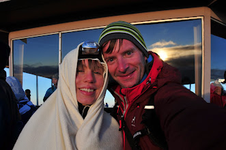 Photo: Us, after the sun has risen.