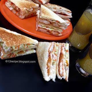 Breaded Chicken Coleslaw Sandwich.