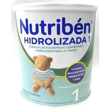 FORMULA INFANTIL   NUTRIBÉN HIDROLIZADA LÁCTEA 1 X400G.