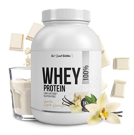 No.1 Sports Whey Protein 1kg - Vanilla White Choco