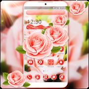 Lovely Pink Rose Romantic Theme APK