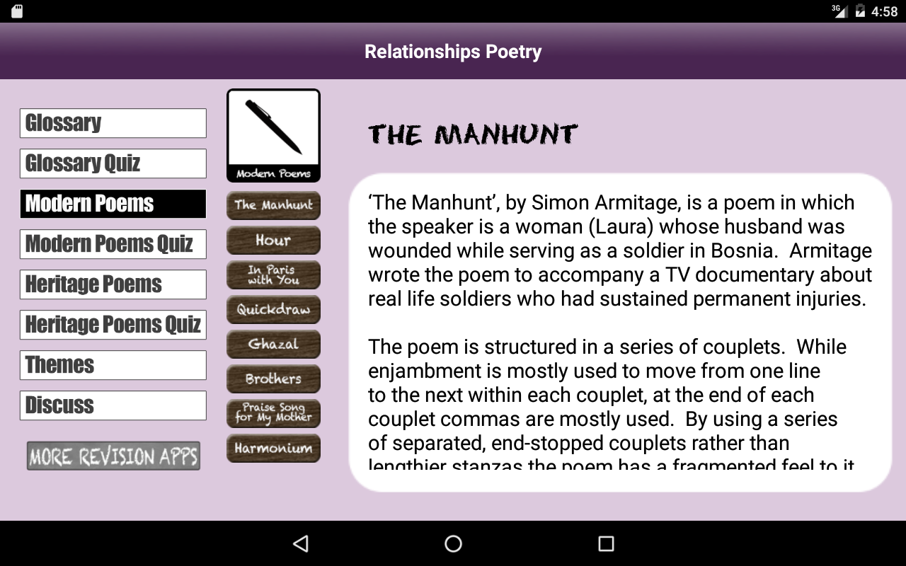 Revise Relationships Poetry- screenshot