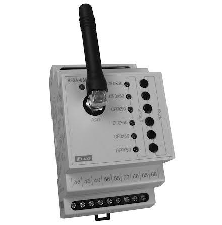 RFSA-66M, mottagare, kontrollbrytare, 6 utgångar, 6 funktioner, 230VAC