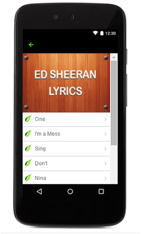 android Ed Sheeran Music Lyrics Screenshot 3
