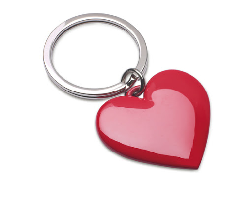 Fashion heart keyrings