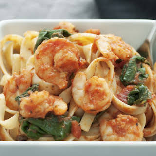 Shrimp and Spinach Pasta.