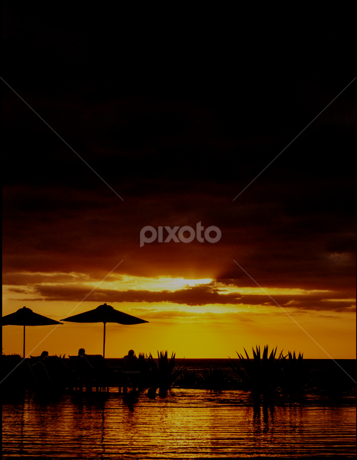 Sundowners & Sunset by Carla Schnetler - Landscapes Sunsets & Sunrises ( sundowners, sunset, silhouette, mauritius,  )
