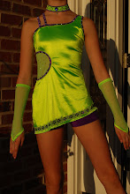 Photo: Custom Made! To buy reference (CDS-One World ) & email me at Pam@Act2DanceCostumes.com $55.00  Qty (1 ) Size: 1-Large Child/12. Lime green & purple one shoulder, A-line skirt. Unique design w/extensive rhinestone design. Swarovski 20/30 Crystal/Purple AB. Gloves and Choker included. No booty Shorts. Paypal/Checks accepted. $10US Shipping/$3 additional items. 7 day returns, same conditon. Thanks! CSD020