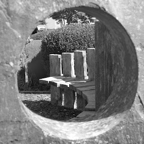 Just a hole... by Judy Boyle - City,  Street & Park  Cemeteries