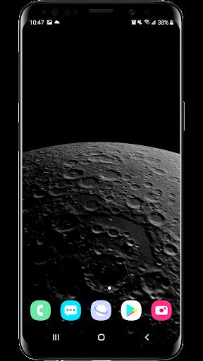 earth & moon  parallax 3d live live wallpaper screenshot 2
