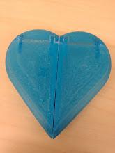 Photo: Reverse side of heart box.