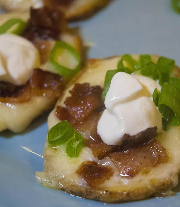 Awesome Loaded Potato Round Appetizers Recipe