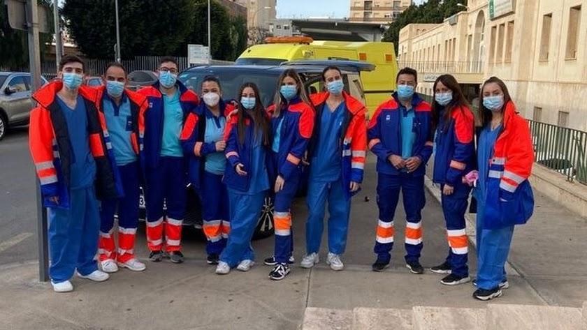 Equipo de vacunación del que forma parte Pedro González del Valle