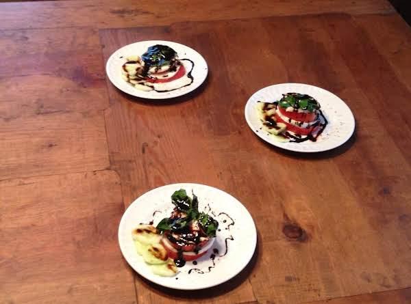 Caprese Salad With Balsamic Vinegar Reduction And Fresh Basil