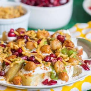 Dahi Aloo Chana Chaat Recipe
