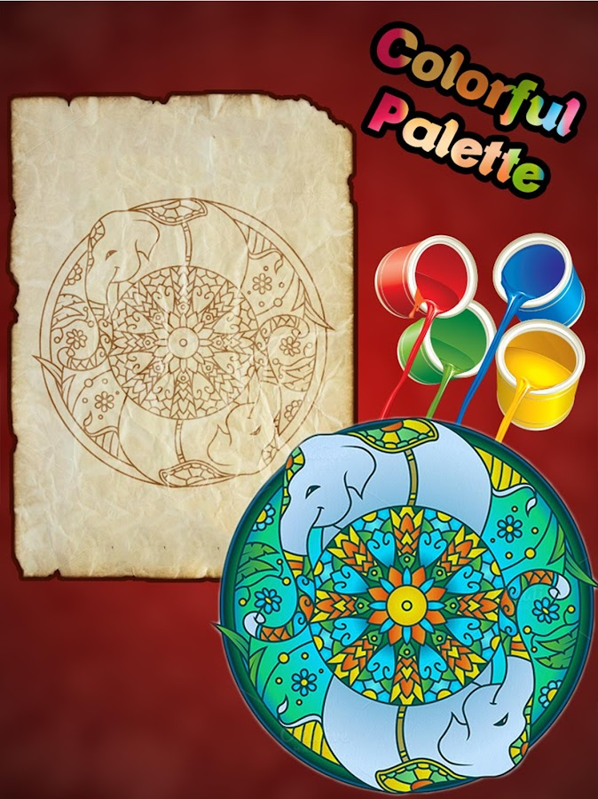 Animal Mandala Coloring Book Screenshot