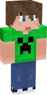 The Teen boy skin from Xbox wearing a creeper T-Shirt.