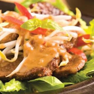 Indonesian Beef Satay Salad.