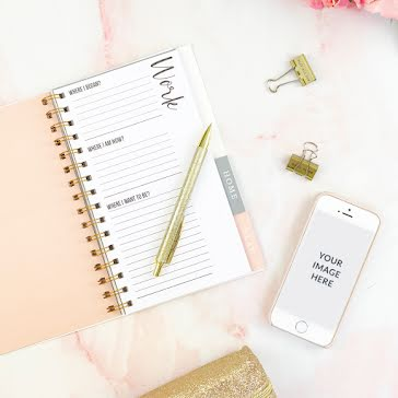 Day Planner Phone Mockup - Instagram Post Template
