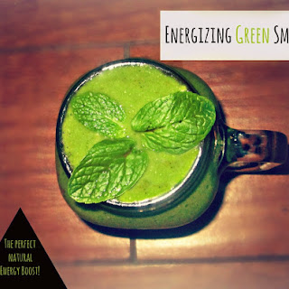 Energizing Green Smoothie- Natural Energy Boost
