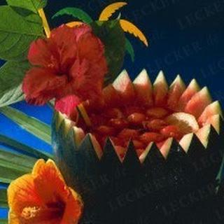 Fruchtiger Campari-Melonen-Drink